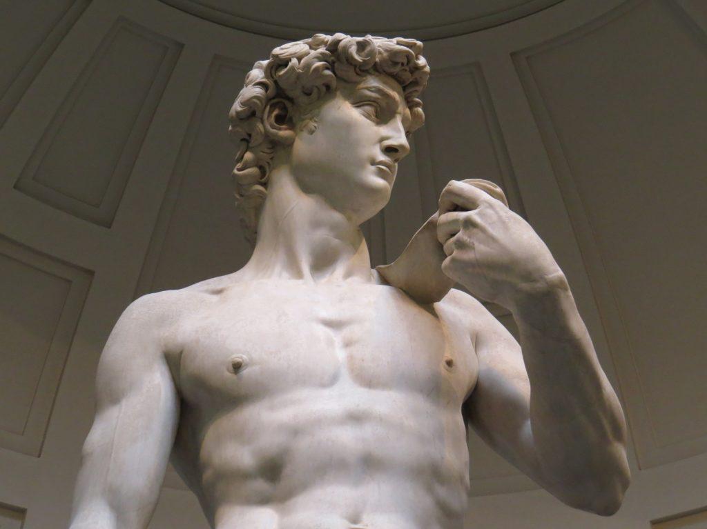 Détail du David à Florence