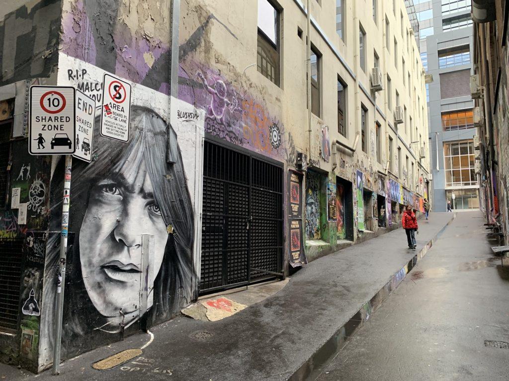 ACDC Lane à Melbourne