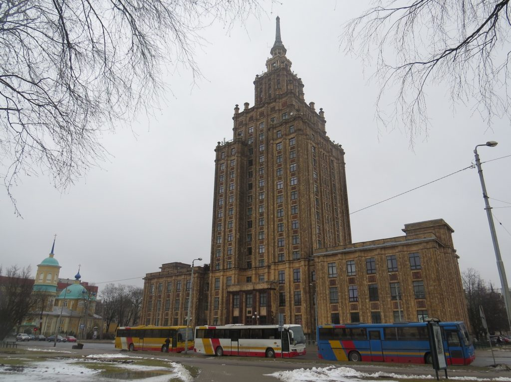 Palais de la Culture et de la Science à Riga