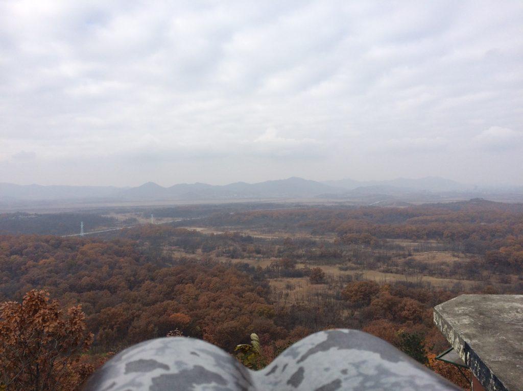 Vue sur la Corée du Nord