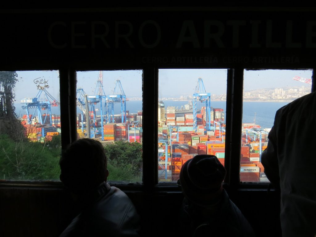 Ascensor Artillería à Valparaiso