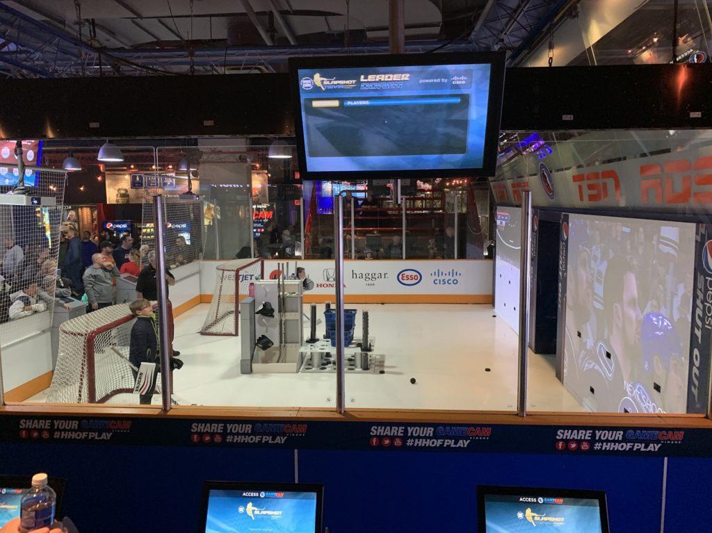 Simulateur de hockey au Hall of Fame