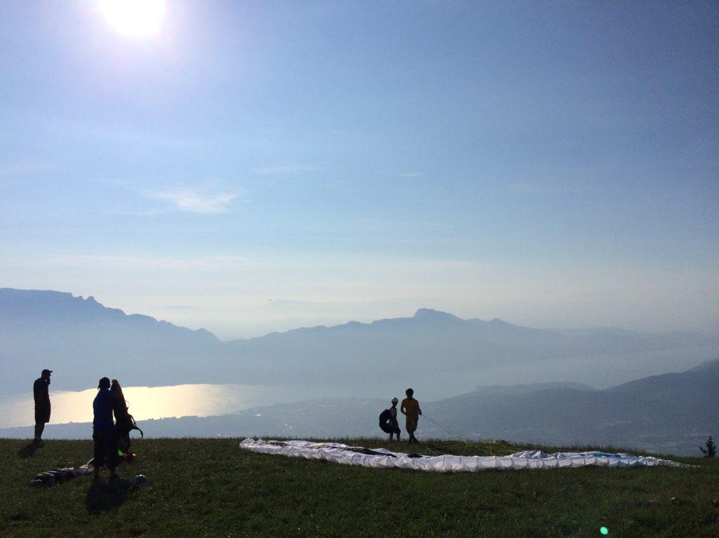 Terrain d'envol au mont Revard