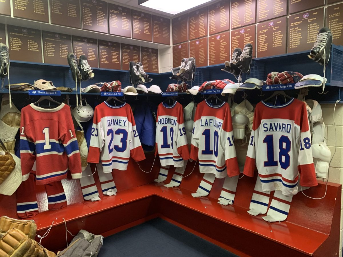 Vestiaire au Hockey Hall of Fame