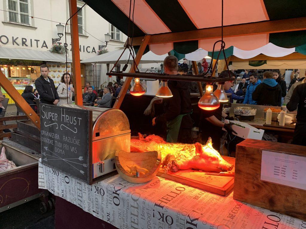 Cochon à Ljubljana