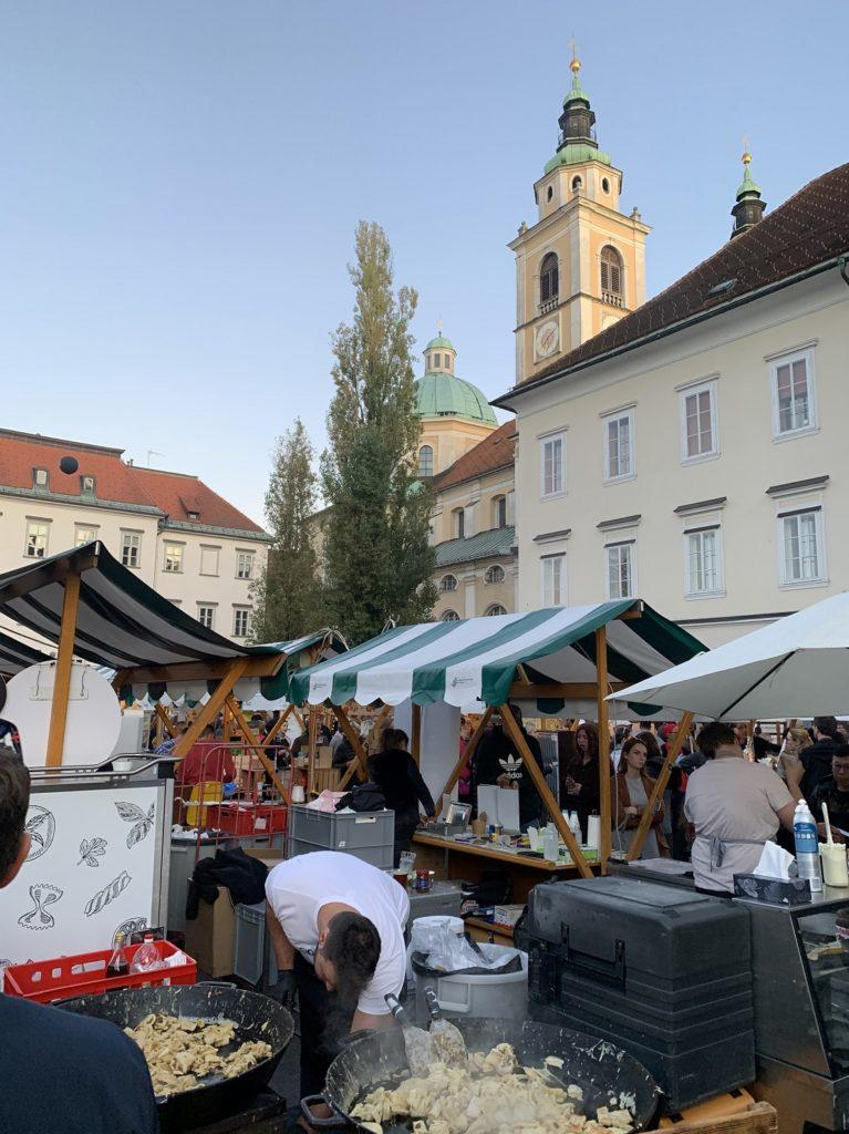 Stand au marché Ljubljana