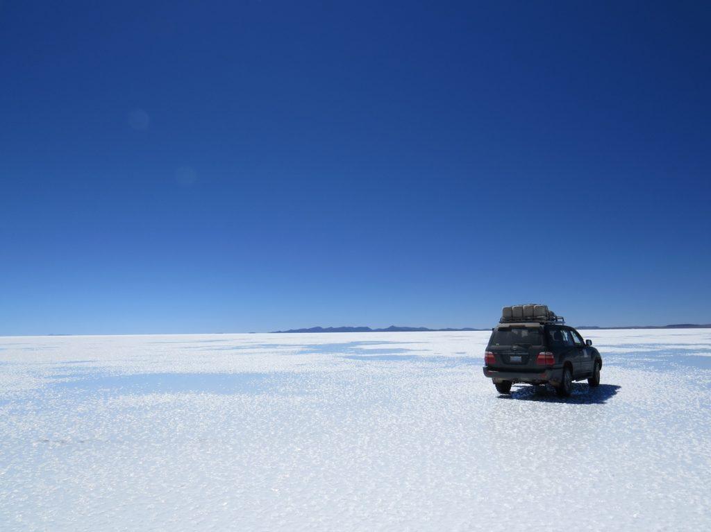 Lac au salar d'Uyuni