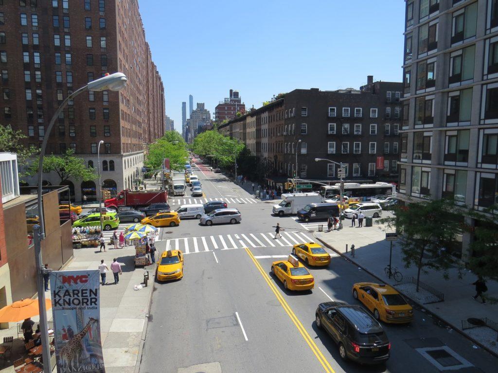 Taxis vus depuis la High Line