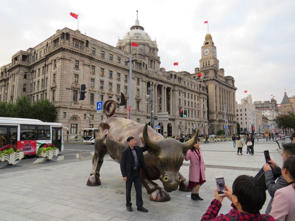 Le Bund Bull de Shanghai