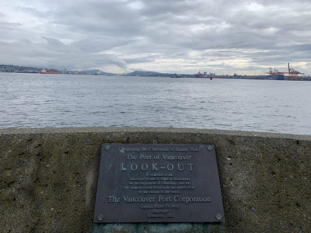 Vue sur le port de Vancouver