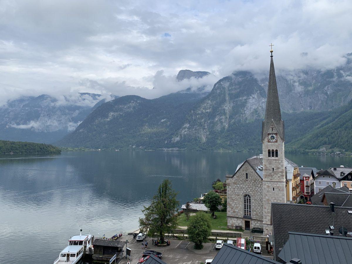 Eglise lutherienne Hallstatt lac