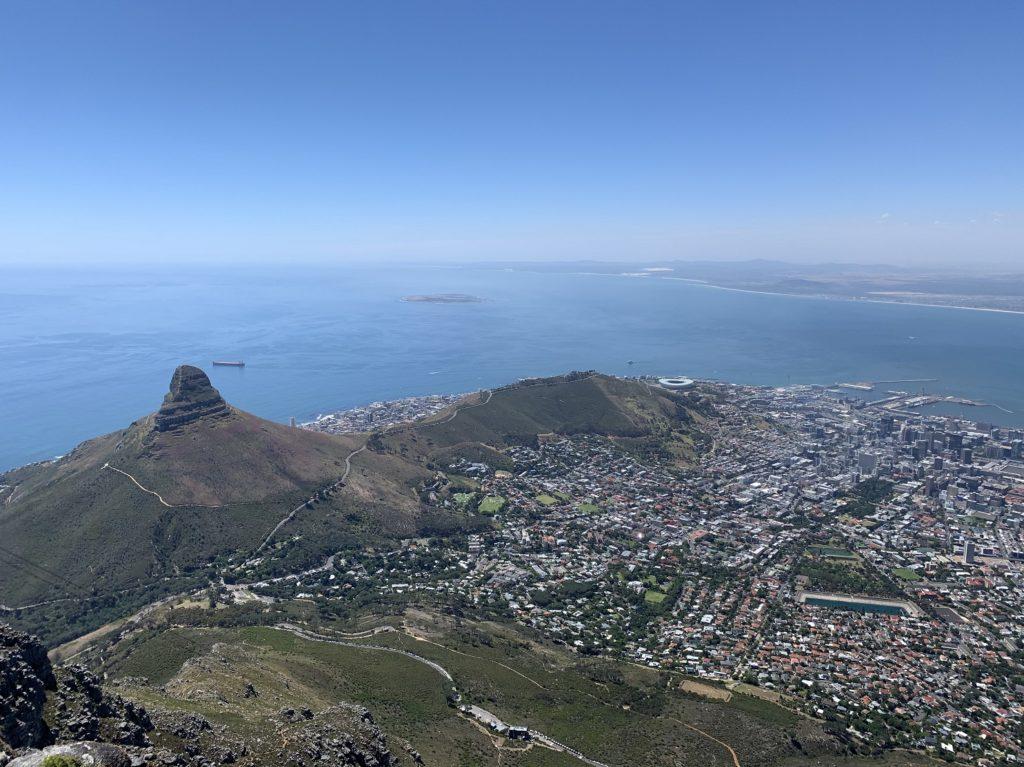 Panorama sur la baie de Cape Town