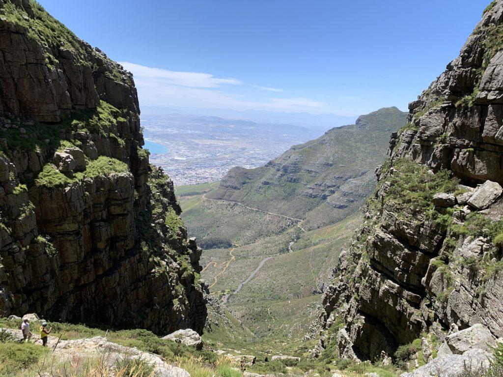 Vue pendant l'ascension de Table Mountain